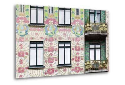 Facade of Jugendstil Style Majolikahaus (Majolica) House at No-Julian Castle-Metal Print