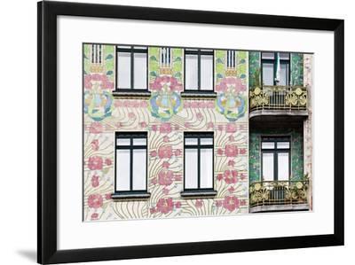 Facade of Jugendstil Style Majolikahaus (Majolica) House at No-Julian Castle-Framed Photo