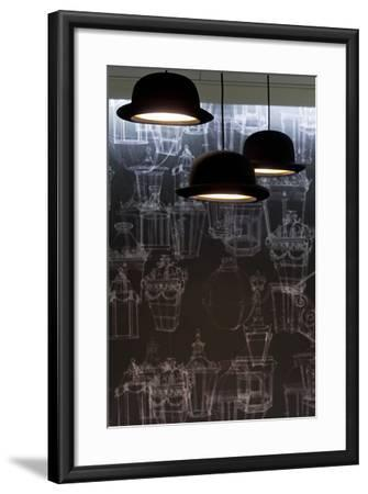 Bowler Hats as Light Fittings-David Barbour-Framed Photo