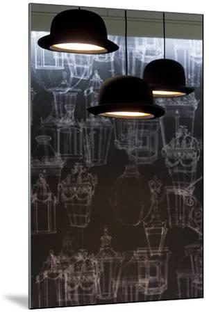 Bowler Hats as Light Fittings-David Barbour-Mounted Photo