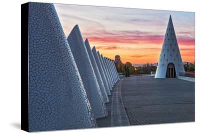 Sunset View of Umbracle Adjacent to El Palau De Les Arts Reina Sofia, City of Arts and Sciences-Cahir Davitt-Stretched Canvas Print