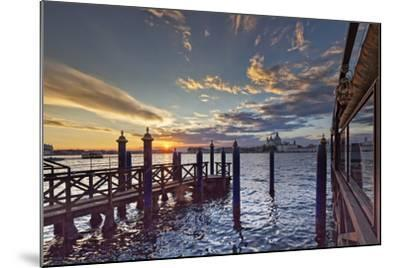 Cip's Club Restaurant and Mooring of the 5 Star Hotel Cipriani, at Sunset-Cahir Davitt-Mounted Photographic Print
