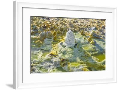 Ethiopia, Dallol, Afar Region. at Almost 300 Feet Below Sea Level-Nigel Pavitt-Framed Photographic Print