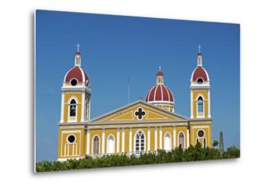 Nicaragua, Granada. the Cathedral of Granada.-Nick Laing-Metal Print