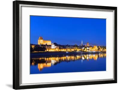 Europe, Poland, Gdansk and Pomerania, Torun, UNESCO Medieval Old Town, Vistula River-Christian Kober-Framed Photographic Print