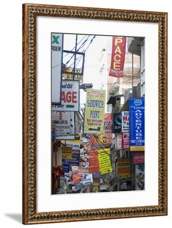 Thamel, the Most Touristy Section of Kathmandu, Nepal-Natalie Tepper-Framed Photo