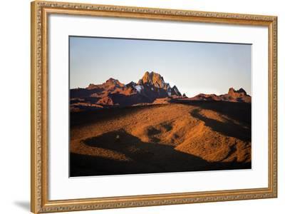 Kenya, Mount Kenya, Rutundu. Mount Kenya at Sunrise from the Northeast.-Nigel Pavitt-Framed Photographic Print