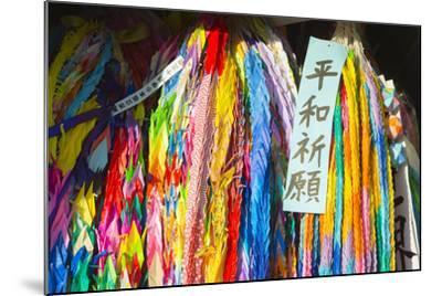 Asia, Japan, Kyushu, Nagasaki, Peace Park, Peace Cranes in Memory 1945 Atomic Bomb Victims-Christian Kober-Mounted Photographic Print