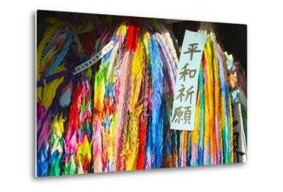 Asia, Japan, Kyushu, Nagasaki, Peace Park, Peace Cranes in Memory 1945 Atomic Bomb Victims-Christian Kober-Metal Print