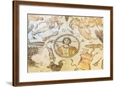 Turkey, Eastern Anatolia, Hatay, Mosaic Museum; Yakto Mosaic-Christian Kober-Framed Photographic Print
