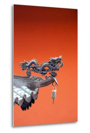 South East Asia, Singapore, Thian Hock Keng Temple, Detail of Dragon Sculpture-Christian Kober-Metal Print
