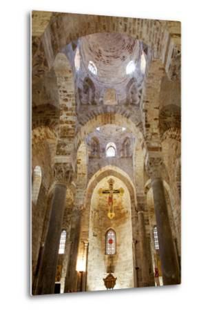 Italy, Sicily, Palermo. Interior of Church of San Cataldo.-Ken Scicluna-Metal Print