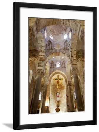 Italy, Sicily, Palermo. Interior of Church of San Cataldo.-Ken Scicluna-Framed Photographic Print