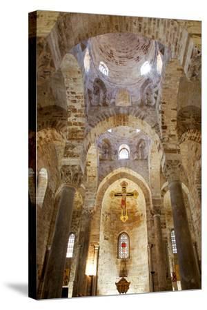 Italy, Sicily, Palermo. Interior of Church of San Cataldo.-Ken Scicluna-Stretched Canvas Print