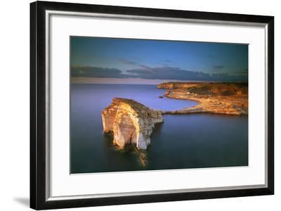 Europe, Maltese Islands, Gozo. Dramatic Scenery in Dwejra-Ken Scicluna-Framed Photographic Print