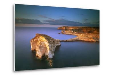 Europe, Maltese Islands, Gozo. Dramatic Scenery in Dwejra-Ken Scicluna-Metal Print