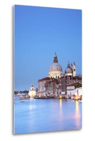 Italy, Veneto, Venice. the Church of Santa Maria Della Salute and the Grand Canal. Unesco.-Ken Scicluna-Metal Print