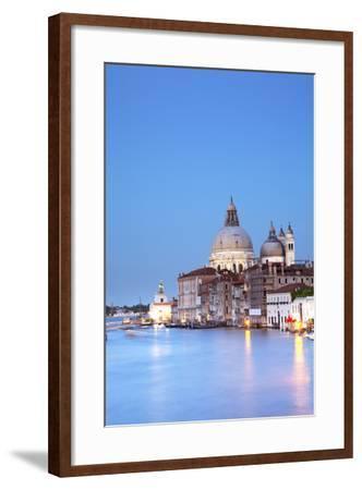 Italy, Veneto, Venice. the Church of Santa Maria Della Salute and the Grand Canal. Unesco.-Ken Scicluna-Framed Photographic Print