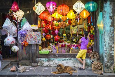 Shop Selling Silk Lanterns in Hoi An, Quang Nam Province, Vietnam, Indochina, Southeast Asia, Asia-Jason Langley-Framed Photographic Print