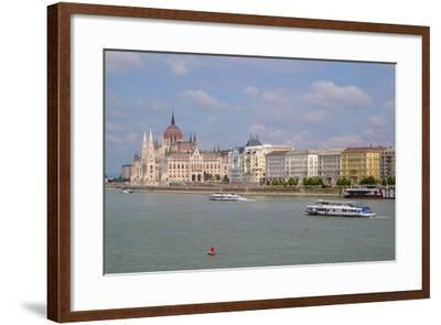 The Hungarian Parliament Building, Budapest, Hungary, Europe-Carlo Morucchio-Framed Photographic Print