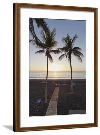 Beach of Puerto Naos at Sunset, La Palma, Canary Islands, Spain, Atlantic, Europe-Markus Lange-Framed Photographic Print