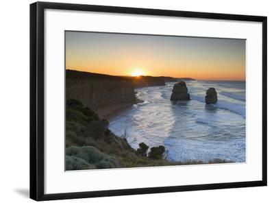 Twelve Apostles at Dawn, Port Campbell National Park, Great Ocean Road, Victoria, Australia-Ian Trower-Framed Photographic Print