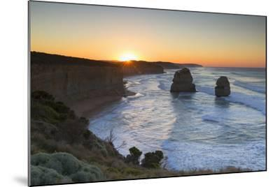 Twelve Apostles at Dawn, Port Campbell National Park, Great Ocean Road, Victoria, Australia-Ian Trower-Mounted Photographic Print