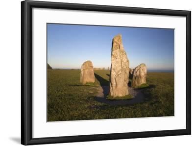 Boat Shaped Standing Stones of Ales Stenar, Kaseberga, Skane, South Sweden, Sweden, Scandinavia-Stuart Black-Framed Photographic Print