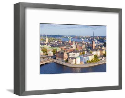 Sweden, Stockholm - the Old Town and Riddarholmen--Framed Photographic Print