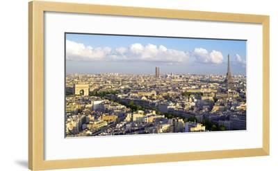 City, Arc De Triomphe and the Eiffel Tower, Viewed over Rooftops, Paris, France, Europe-Gavin Hellier-Framed Photographic Print