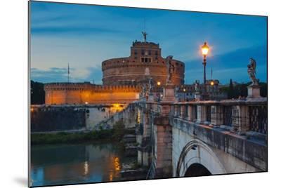 Mausoleum of Hadrian (Castel Sant'Angelo), Ponte Sant'Angelo, Tiber River, Rome, Lazio, Italy-Nico Tondini-Mounted Photographic Print