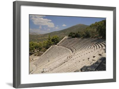 Ancient Theatre of Epidaurus (Epidavros), Argolis, Peloponnese, Greece, Europe-Nick Upton-Framed Photographic Print