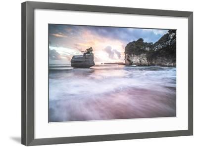 Cathedral Cove at Sunrise, Coromandel Peninsula, North Island, New Zealand, Pacific-Matthew Williams-Ellis-Framed Photographic Print