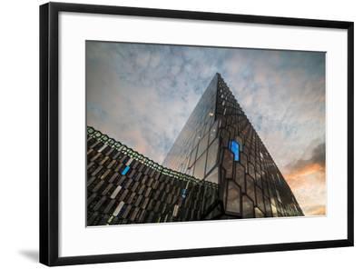 Harpa Concert Hall and Conference Centre at Sunrise, Reykjavik, Iceland, Polar Regions-Matthew Williams-Ellis-Framed Photographic Print