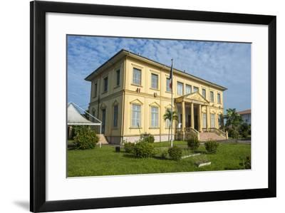Old Colonial Buildings in Saint Laurent Du Maroni, French Guiana, Department of France-Michael Runkel-Framed Photographic Print