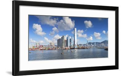 International Commerce Centre (Icc) and Hong Kong Island Skyline, Hong Kong, China, Asia-Ian Trower-Framed Photographic Print