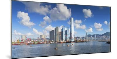 International Commerce Centre (Icc) and Hong Kong Island Skyline, Hong Kong, China, Asia-Ian Trower-Mounted Photographic Print