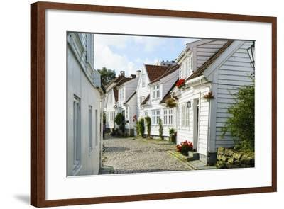 Old Stavanger (Gamle Stavanger) - About 250 Buildings Dating from Early 18th Century, Norway-Amanda Hall-Framed Photographic Print