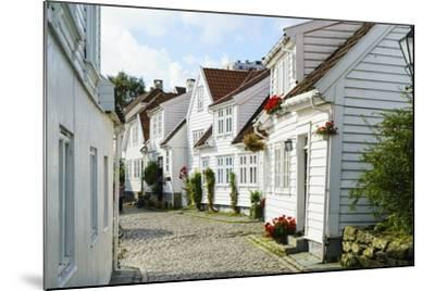 Old Stavanger (Gamle Stavanger) - About 250 Buildings Dating from Early 18th Century, Norway-Amanda Hall-Mounted Photographic Print