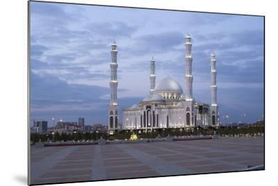 Hazrat Sultan Mosque, the Largest in Central Asia, at Dusk, Astana, Kazakhstan, Central Asia-Gavin Hellier-Mounted Photographic Print