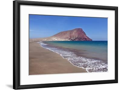 La Montana Roja Rock and Playa De La Tejita Beach, Spain-Markus Lange-Framed Photographic Print