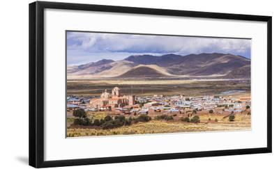 Pucara Seen from Pukara Inca Ruins, Puno Region, Peru, South America-Matthew Williams-Ellis-Framed Photographic Print