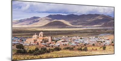 Pucara Seen from Pukara Inca Ruins, Puno Region, Peru, South America-Matthew Williams-Ellis-Mounted Photographic Print