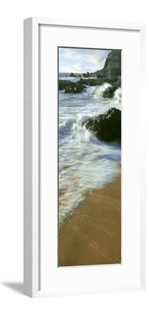Wave and Sand Patterns on Beach, Cerritos Beach, Baja California Sur, Mexico--Framed Photographic Print