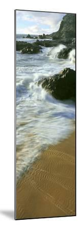 Wave and Sand Patterns on Beach, Cerritos Beach, Baja California Sur, Mexico--Mounted Photographic Print