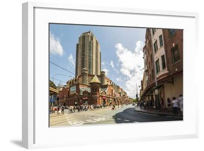 Famous Market City Building in Sydney with People around Walking, New South Wales, Australia-Noelia Ramon-Framed Photographic Print