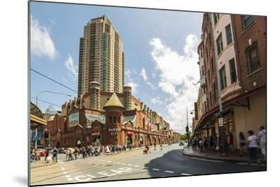 Famous Market City Building in Sydney with People around Walking, New South Wales, Australia-Noelia Ramon-Mounted Photographic Print