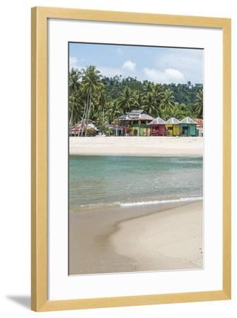 Sungai Pinang Beach and Rasta Beach Bungalows, Near Padang in West Sumatra, Indonesia-Matthew Williams-Ellis-Framed Photographic Print