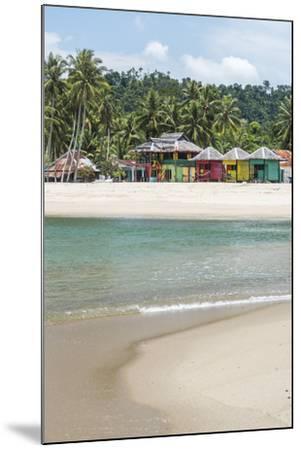 Sungai Pinang Beach and Rasta Beach Bungalows, Near Padang in West Sumatra, Indonesia-Matthew Williams-Ellis-Mounted Photographic Print