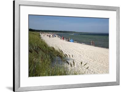 Lyckesand Beach Backed by Sand Dunes, Baltic Coast-Stuart Black-Framed Photographic Print